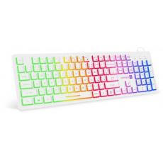 CONNECT IT klávesnice CK43, kancelářská, drátová, rainbow, podsvícená, USB, CZ + SK, bílá