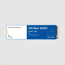 WD BLUE SSD NVMe 1TB PCIe SN 570, Gen3 8 Gb/s, (R:3500, W:3000MB/s)