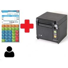 EET-POS plná verze (1x) + stolní tiskárna RP-D10 BT s řezačkou